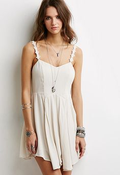 Crochet Cami Strap Dress | Forever 21 | #springcollection