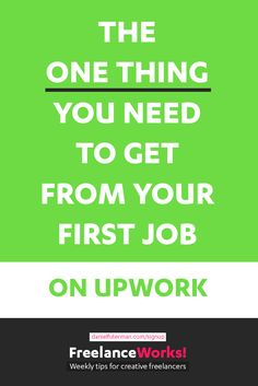 There is only one thing you need to care about on your first freelance job on Upwork. It's not the money. It's not the time.
