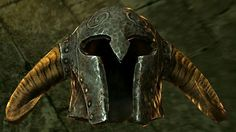Ancient Helmet of the Unburned  BASE ARMOR: 15Weight 4BASE VALUE: 841Additional Effects: IncreasesFire Resistanceby 40% Class:Heavy Armor,Helmet Upgrade Material:Iron Ingot PERK:Daedric Smithing