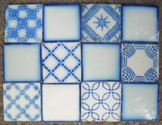 France Antique Tile Pas de Calais Desvres 12 Tile Set C1870 | eBay