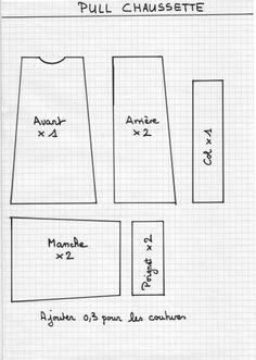 poup e corolle v tements patron le dessin du patron repr sente un demi corsage patron. Black Bedroom Furniture Sets. Home Design Ideas