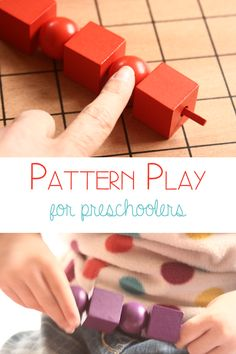 Preschool Pattern Play - work on math skills with preschoolers as well as fine motor skills and hand eye coordination.