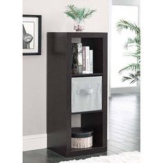 (Set of Black) Create multiple storage solutions for your home with the Better Homes and Gardens Organizer. This product features a set of square openings for easy storage opportunities. The three-cube storage organizer shelf is stylish and versatile. 4 Cube Organizer, Cube Storage, Storage Bins, Tall Cabinet Storage, Easy Storage, Storage Solutions, Book Storage, Office Storage, Shelves In Bedroom