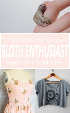 27 Adorable Things Every Sloth Lover Needs  #patrickborgenmd