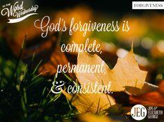 God's wonderful forgiveness starts with receiving God's gift—Jesus Christ! #InTheWordWednesday