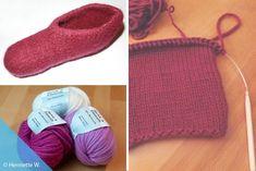 DIY-Hausschuhe: Filzschuhe stricken und in Waschmaschine filzen