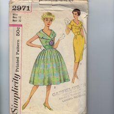 1950s Vintage Sewing Pattern Simplicity