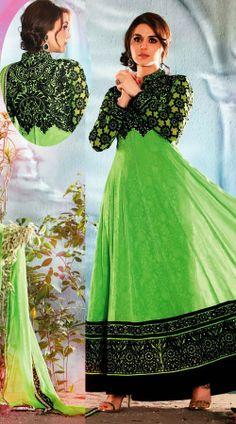 Preity Zinta In Light Green Long Length Anarkali Suit AG911250