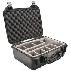 """Pelican Case With Padded Divider (1450 Case; Dim: 14.62""""l X 10.18""""w X 6""""h)"""