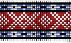 forkleband monster61 Inkle Weaving, Inkle Loom, Tablet Weaving, Swedish Weaving Patterns, Knitting Patterns, Crochet Patterns, Mittens, Free Crochet, Charts