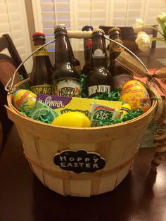 The perfect adult easter basket easter ideas pinterest adult easter basket hoppy easter basket filled with hoppy craft beers great for negle Choice Image
