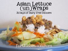 Asian Lettuce Wraps (Dairy Free Recipe)