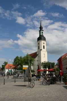 Kirchplatz in #Lübbenau/ #spreewald