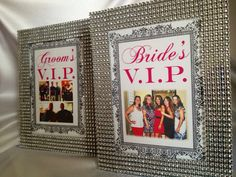 SET OF 10 - Bling Wedding rhinestone trimmed table number frames, size 5x7- Personalized Photos on Etsy, $90.00