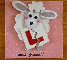 Ewe passed driving test card Handmade Ideas, Handmade Cards, Passed Driving Test, Craft Projects, Projects To Try, Test Card, Card Crafts, Diy Cards, Cake Ideas