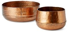 Asst. of 2 Hammered Bowls, Copper | Downstairs | One Kings Lane