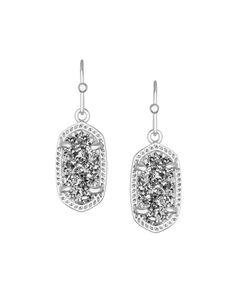 Lee Silver Earrings in Platinum Drusy - Kendra Scott Jewelry