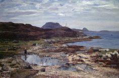 Frederik Collett (1839-1914): Sommerbilde fra Florø, 1887 Fine Art, Water, Outdoor, Art, Water Water, Outdoors, Aqua, Outdoor Games, Visual Arts