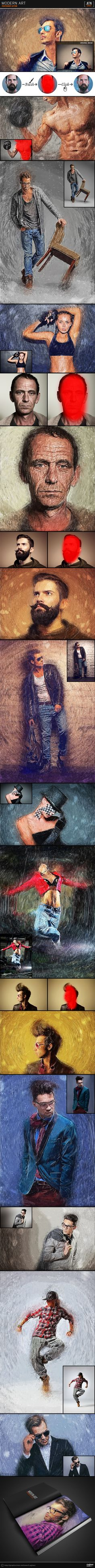 Modern Art - Painting Effect Photoshop #photoeffect Download: http://graphicriver.net/item/modern-art-painting-effect/14071490?ref=ksioks