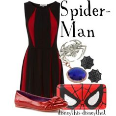 Spiderman by disneythis-disneythat. The nerd in me wants this outfit like nobody's business Movie Inspired Outfits, Disney Inspired Fashion, Disney Fashion, Superhero Fashion, Marvel Fashion, Disney Outfits, Disney Clothes, Disney Dresses, Tv Show Outfits