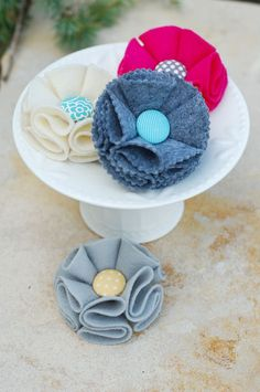 all things simple: ss tutorial: felt flower hair accessory