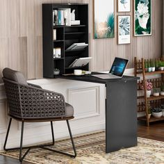 Wall Mounted Folding Table, Wall Mounted Bar, Folding Walls, Small Space Office, Table For Small Space, Small Spaces, Desk Cabinet, Desk Shelves, Bookcase