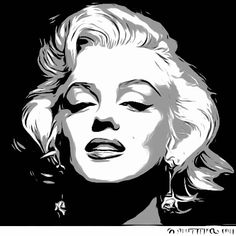Marilyn Monroe Pop Art, Marilyn Monroe Quotes, Marilyn Monroe Painting, Pop Art Portraits, Portrait Art, Art Sketches, Art Drawings, Pop Art Images, Posca Art