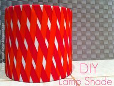 DIY Lamp Shade tutorial coming on Monday #diy