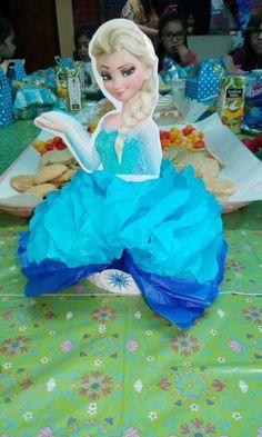 Centro de mesa Elsa, cumpleaños Frozen