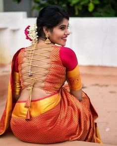 Blouse Back Neck Designs, Bridal Blouse Designs, Saree Blouse Designs, South Indian Actress Hot, Indian Actress Hot Pics, Actress Pics, South Actress, Beautiful Girl Indian, Most Beautiful Indian Actress