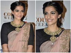 Sonam with beautiful kundan jewellery