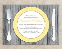 Rehearsal Dinner Invitation - DIY Printable JPEG - Rehearsal Dinner Invite - Rustic Rehearsal Dinner Invitation - Rustic Invitation