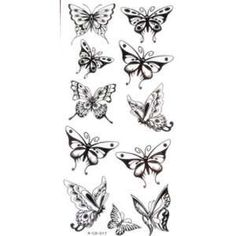 Small Butterfly Tattoos | YiMei Fake small butterfly temporary tattoos: Toys & Games