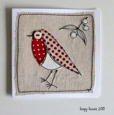 Sewing christmas cards xmas Ideas for 2019 Christmas Patchwork, Christmas Cushions, Christmas Applique, Christmas Sewing, Freehand Machine Embroidery, Free Motion Embroidery, Free Machine Embroidery, Fabric Cards, Fabric Postcards