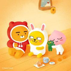 Friends Gif, Line Friends, Kakao Friends, Friends Wallpaper, Photo Illustration, Illustrations, 3d Cartoon, Kawaii Drawings, Cute Designs