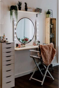 Makeup rooms - Makeup Room Ideas Makeup Room DIY (Makeup Room Decor) Makeup Store Ideas for DIY for Ideas Makeup Room Makeover, Makeup Rooms, Small Room Design, Diy Storage Space, Built In Dressing Table, Bedroom Design, Room Diy, Makeup Room Diy, Room Inspiration