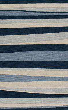 modernrugs.com Transitions Blue Striped Modern Rug
