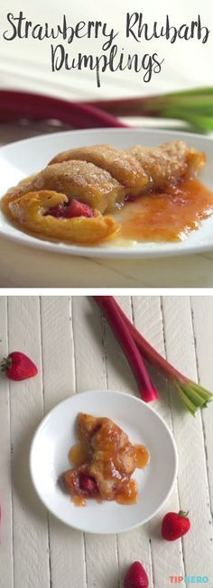 Spring's in full-bloom, and some areas are already tilting towards summer. You know what that means— it's time for summertime fruit and fresh treats! Rhubarb Dumplings, Rhubarb Cobbler, Rhubarb Rhubarb, Rhubarb Desserts, Rhubarb Recipes, Apple Recipes, Apple Recipe With Crescent Rolls, Crescent Roll Recipes, Funnel Cakes