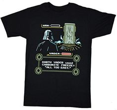 Star Wars Han Solo Carbonite 8 Bit Pixel T-shirt