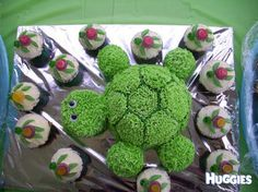 Turtle Cake and cup cakes