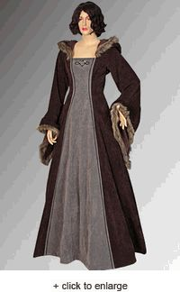 Fur Trimmed Medieval Dress--awesome for winter.