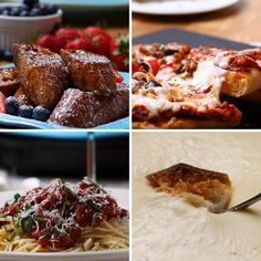 One Top 4 Ways // #fondue #cooking #dinner #tasty #pasta #pizza