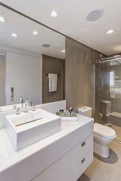 Blog de Decoração Perfeita Ordem: Banheiros e lavabos em cimento queimado