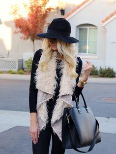 sherpa fur vest