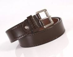 1 inch real genuine leather belt. brown FREE UK P&P