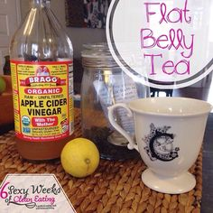 Flat belly tea! Ditch your morning coffee which can cause you to retain water and bloat and switch to this fabulous flat belly tea! Not only will it help kick your coffee habits it will also decrease bloat, help with digestion, stop cravings and may help with weight loss!    Recipe: • 1 cup organic green tea • 1tbsp raw apple cider vinegar  • juice from a lemon half • stevia or raw honey to taste
