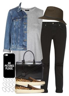 Untitled #3451 by hellomissapple on Polyvore featuring Topshop, J Brand, Yves Saint Laurent, ASOS, Charlotte Russe, Casetify, women's clothing, women's fashion, women and female
