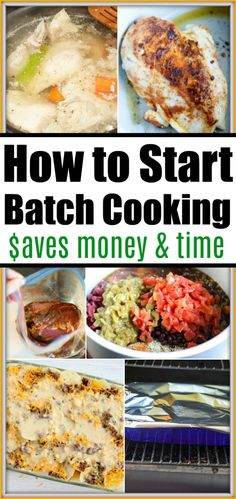 How to start batch cooking so you can save money and time! Easy tips to cooking in bulk and creating freezer meals your whole family will enjoy. Healthy Meals To Cook, Healthy Side Dishes, Healthy Cooking, Easy Freezer Meals, Quick Meals, Cheap Meals, Cheap Recipes, Easy Recipes, Slow Cooker Shredded Chicken