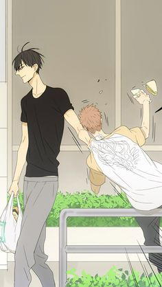 19 days-Old xian He Tian & Mo Guan Shan Manhwa, Anime Manga, Anime Guys, 19 Days Manga Español, Tan Jiu, Shonen Ai, Kurotsuki, Cartoon Games, Boyxboy