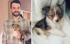Un uomo non vedente da un occhio ha acquistato un cane con il suo stesso difetto fisico che nessuno voleva.